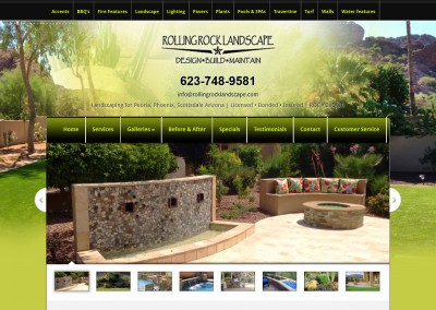 Rolling Rock Landscape Website
